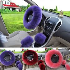 <b>3pcs</b> 38cm wool car steering wheel covers winter warm cushion ...