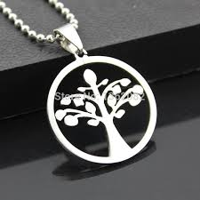 whole whole fashion jewelry men women s stainless steel celtic tree of life charm pendant beads chain necklace amulet gift mn308 diamond pendants