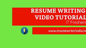 How to write a resume/CV for freshers in Microsoft Word