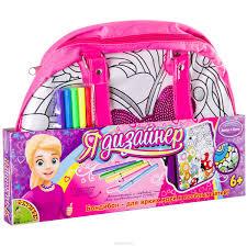 <b>Bondibon Набор для раскрашивания</b> сумки с бабочкой и пайетками