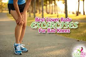 best lower body exercises for bad knees