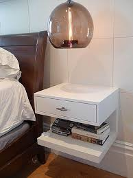 Wall Mounted Bedside Tables   Contemporary Wall Mounted Bed Side Table  Godar Furniture