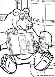 Small Picture Masha and the Bear coloring pages on Coloring Bookinfo