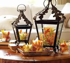 Orange Accessories Living Room Rustic Halloween Themed Home Interior Design Ideas With Neutral