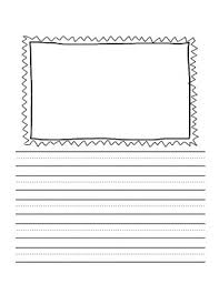 Kindergarten Writing Pages Writing Pages With Frames For Pictures And Kindergarten Lines Pack