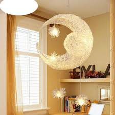 kids pendant lighting. Creative Aluminum Pendant Light Moon Star Children Kid Child Bedroom Lamp Chandelier Ceiling Modern Balcony Hanging Fixtures Kids Lighting