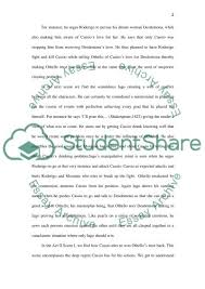 othello act a review essay example topics and well written othello act 2 3 a review essay example