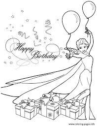 Elsa Birthday Party Colouring Page Coloring Pages Printable