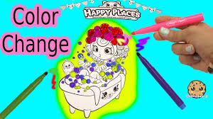 maker coloring kins happy places pies doll in bathtub with color changing magic pens you