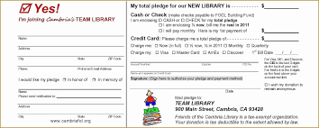 Donation Pledge Form Template Free Excel Samplege Forms For