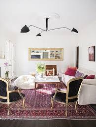 mouille lighting. serge mouille persian rug lighting