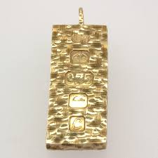 secondhand 9ct gold ingot pendant