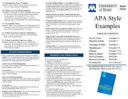 Apa Citation Guides Research Guides At University Of Mary
