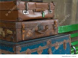 Old Suitcases Old Travelling Suitcases Stock Picture I1387163 At Featurepics