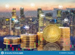 Litecoin Ltc And Cryptocurrency Trading Concept Stock Photo