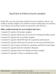 Top 8 test architect resume samples In this file, you can ref resume  materials for ...