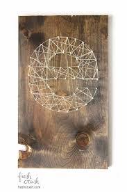 diy string wood wall art via freshcrush