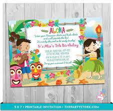 Hawaiian Party Invitations Hawaiian Party Invitations By Existing