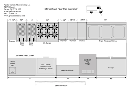 food truck floor plans. 16ft-food-truck-floor-plan-1B Food Truck Floor Plans R