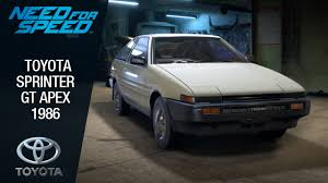 Need for Speed 2015 - Toyota Sprinter GT Apex 1986 - YouTube