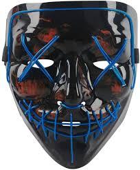 Led Light Up Mask Amazon Vtechology Halloween Mask Led Light Up Mask Scary El Wire Cosplay Costume Mask For Festival Party For Men Women Kids