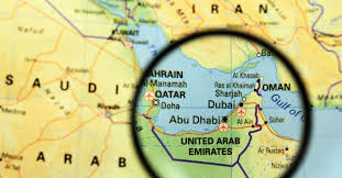 Image result for qatar uae countries map