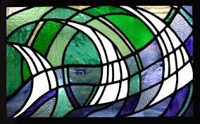 cover stained glass regans panels x3 bathroom closeup boats photo