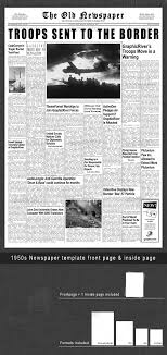 1960s Newspaper Template 1950s Graphics Designs Templates From Graphicriver