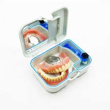 mini denture retainer box with mirror clening brush care kits cod