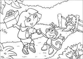 Small Picture Dora and boots color in coloring pages Hellokidscom