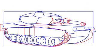 نتيجة بحث الصور عن طريقة رسم دبابة