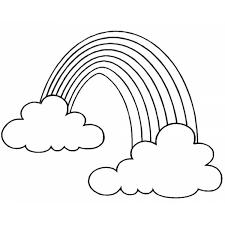 Disegno Di Arcobaleno E Nuvole Da Colorare Per Bambini