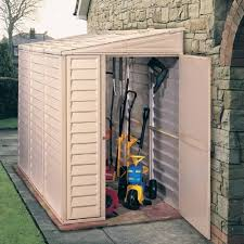 sidemate plastic lean to pent shed 4x8