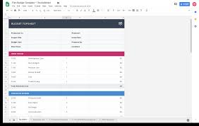 Budget Template Excel Download Download Your Free Film Budget Template For Video Production