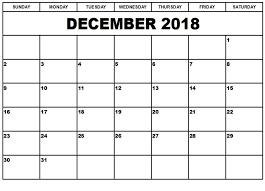 December Calendar Blank Blank December 2018 Calendar Professional Free Printable Calendar