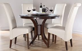 nice decoration dark wood round dining table sumptuous inside prepare 17