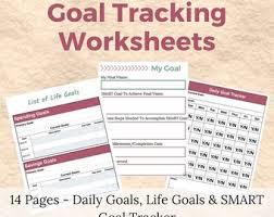 Daily Goal Tracker Goal Template Etsy
