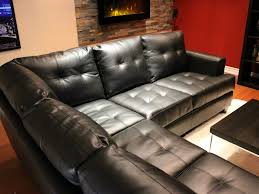 toronto tufted black leather l shaped sectional sofa at gowfbca pertaining to contemporary home leather sectional sofa bed designs