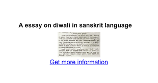 a essay on diwali in sanskrit language google docs