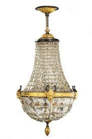 late 19th century basket chandelier