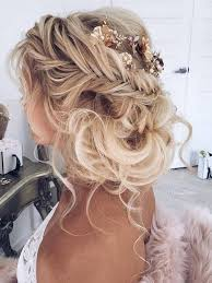 bridal wedding hairstyles with braid long and loose waves