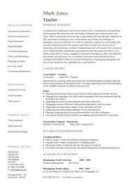 How To Write A Resume For A Teaching Position Resume Sample