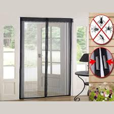 new magic sheer curtains door mesh magnetic hands free fly mosquito bug insect screen 100 x 210cm sheer curtains curtain door automatic closing net mesh