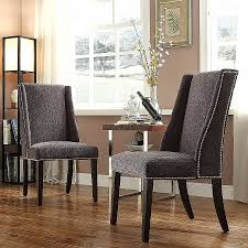 nailhead dining chairs dining room. Upholstered Dining Wing Chairs Elegant Nailhead Room Full Hd Wallpaper Pictures I