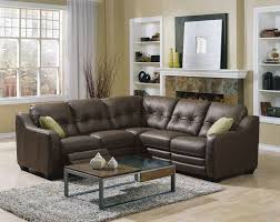 fabulous small sectional leather sofa