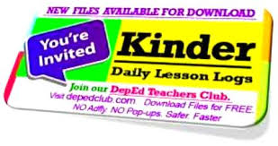 daily lesson log format 1st quarter kindergarten daily lesson log 2018 dll