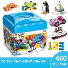 Bộ Đồ Chơi Lego Hộp Vuông 460 Chi Tiết Cao Cấp