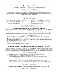 ... Sample Resume for Financial Advisor Position Unique 10 Responsibilities  Financial Advisor Zm Sample Resumes ...