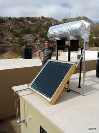picture of solar water heater from scratch