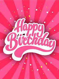 Pink Happy Birthday Cards Birthday Greeting Cards By Davia